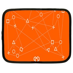 Leadership Deep Dive Orange Line Circle Plaid Triangle Netbook Case (large) by Alisyart