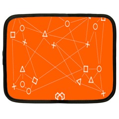 Leadership Deep Dive Orange Line Circle Plaid Triangle Netbook Case (xxl)