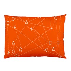 Leadership Deep Dive Orange Line Circle Plaid Triangle Pillow Case (two Sides)