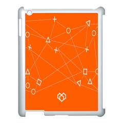 Leadership Deep Dive Orange Line Circle Plaid Triangle Apple Ipad 3/4 Case (white)