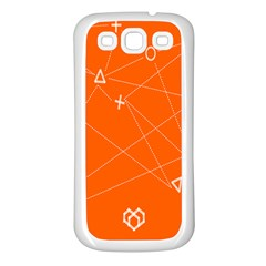 Leadership Deep Dive Orange Line Circle Plaid Triangle Samsung Galaxy S3 Back Case (white)