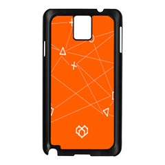 Leadership Deep Dive Orange Line Circle Plaid Triangle Samsung Galaxy Note 3 N9005 Case (black) by Alisyart