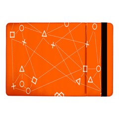 Leadership Deep Dive Orange Line Circle Plaid Triangle Samsung Galaxy Tab Pro 10 1  Flip Case by Alisyart