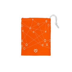 Leadership Deep Dive Orange Line Circle Plaid Triangle Drawstring Pouches (xs)  by Alisyart