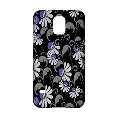 Flourish Floral Purple Grey Black Flower Samsung Galaxy S5 Hardshell Case  by Alisyart
