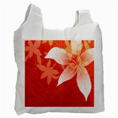 Lily Flowers Graphic White Orange Recycle Bag (one Side) by Alisyart