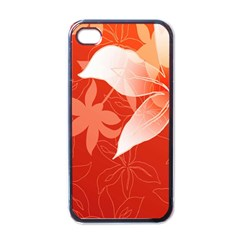 Lily Flowers Graphic White Orange Apple Iphone 4 Case (black)