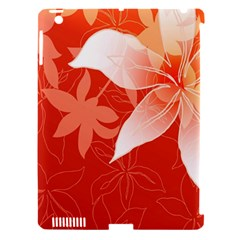 Lily Flowers Graphic White Orange Apple Ipad 3/4 Hardshell Case (compatible With Smart Cover) by Alisyart