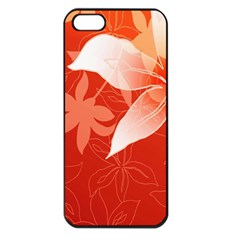 Lily Flowers Graphic White Orange Apple Iphone 5 Seamless Case (black)