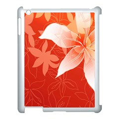 Lily Flowers Graphic White Orange Apple Ipad 3/4 Case (white)