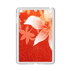 Lily Flowers Graphic White Orange Ipad Mini 2 Enamel Coated Cases