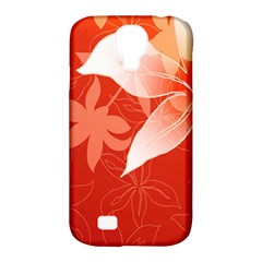 Lily Flowers Graphic White Orange Samsung Galaxy S4 Classic Hardshell Case (pc+silicone)