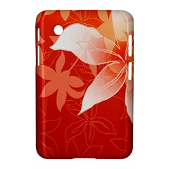 Lily Flowers Graphic White Orange Samsung Galaxy Tab 2 (7 ) P3100 Hardshell Case  by Alisyart