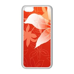 Lily Flowers Graphic White Orange Apple Iphone 5c Seamless Case (white) by Alisyart