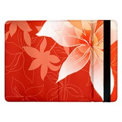 Lily Flowers Graphic White Orange Samsung Galaxy Tab Pro 12 2  Flip Case