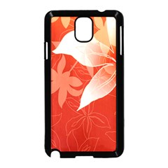 Lily Flowers Graphic White Orange Samsung Galaxy Note 3 Neo Hardshell Case (black)