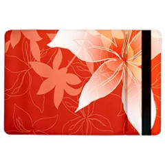 Lily Flowers Graphic White Orange Ipad Air 2 Flip by Alisyart
