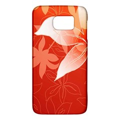Lily Flowers Graphic White Orange Galaxy S6