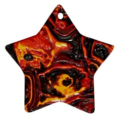 Lava Active Volcano Nature Ornament (star) by Alisyart
