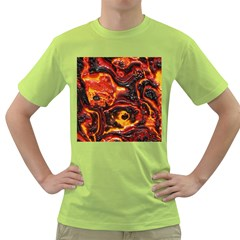 Lava Active Volcano Nature Green T Shirt by Alisyart