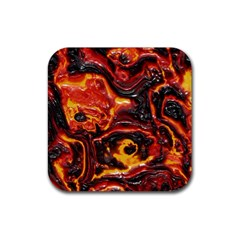 Lava Active Volcano Nature Rubber Square Coaster (4 Pack)  by Alisyart