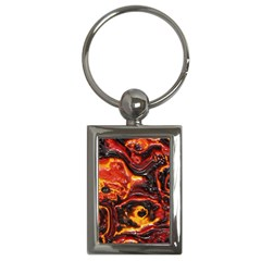 Lava Active Volcano Nature Key Chains (Rectangle)