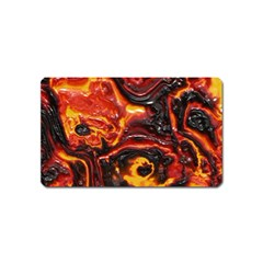 Lava Active Volcano Nature Magnet (name Card) by Alisyart