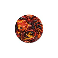 Lava Active Volcano Nature Golf Ball Marker by Alisyart