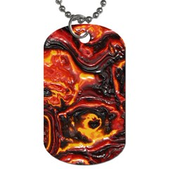 Lava Active Volcano Nature Dog Tag (Two Sides)