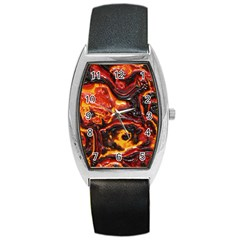 Lava Active Volcano Nature Barrel Style Metal Watch by Alisyart