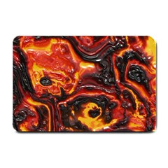 Lava Active Volcano Nature Small Doormat  by Alisyart