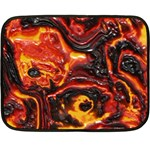 Lava Active Volcano Nature Double Sided Fleece Blanket (Mini)  35 x27 Blanket Back