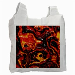 Lava Active Volcano Nature Recycle Bag (one Side) by Alisyart