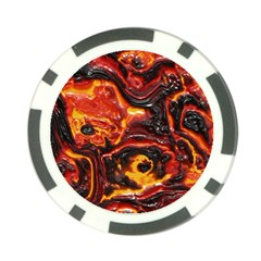 Lava Active Volcano Nature Poker Chip Card Guard (10 pack)