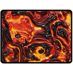 Lava Active Volcano Nature Fleece Blanket (Large)  80 x60 Blanket Front