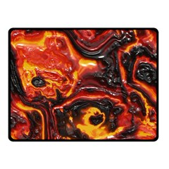 Lava Active Volcano Nature Fleece Blanket (small) by Alisyart
