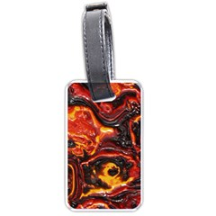 Lava Active Volcano Nature Luggage Tags (one Side)  by Alisyart