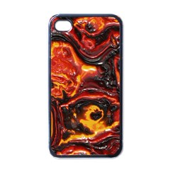 Lava Active Volcano Nature Apple Iphone 4 Case (black) by Alisyart