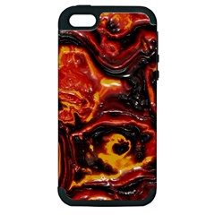 Lava Active Volcano Nature Apple iPhone 5 Hardshell Case (PC+Silicone)