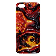 Lava Active Volcano Nature Apple Iphone 5 Premium Hardshell Case by Alisyart