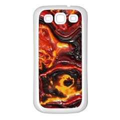 Lava Active Volcano Nature Samsung Galaxy S3 Back Case (white) by Alisyart