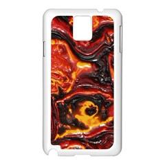 Lava Active Volcano Nature Samsung Galaxy Note 3 N9005 Case (White)