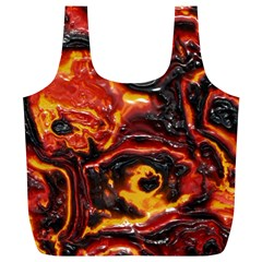 Lava Active Volcano Nature Full Print Recycle Bags (L)