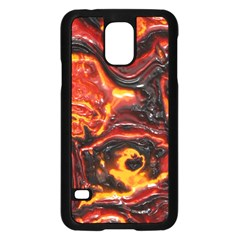 Lava Active Volcano Nature Samsung Galaxy S5 Case (black) by Alisyart