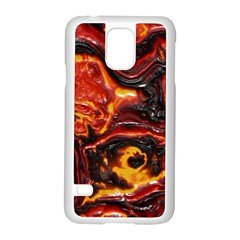 Lava Active Volcano Nature Samsung Galaxy S5 Case (white)