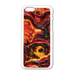 Lava Active Volcano Nature Apple Iphone 6/6s White Enamel Case by Alisyart