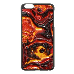Lava Active Volcano Nature Apple Iphone 6 Plus/6s Plus Black Enamel Case by Alisyart
