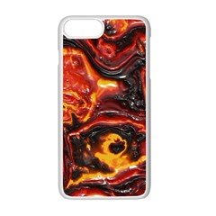 Lava Active Volcano Nature Apple iPhone 7 Plus White Seamless Case