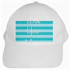 Love You Mom Stripes Line Blue White Cap by Alisyart