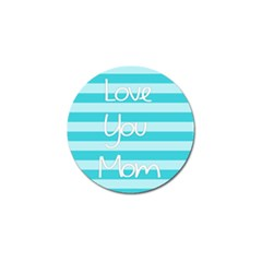Love You Mom Stripes Line Blue Golf Ball Marker (4 Pack)